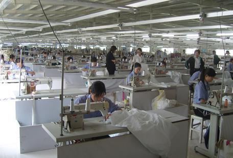 缝纫生产流水线
